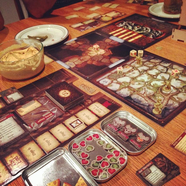 #MiceandMystics #gamenight #boardgames #cheese #TildaFTW