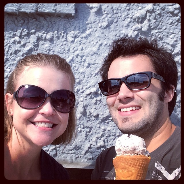 Ice cream selfie!!! #pittsburgh #daveandandys #icecream #patronsaint