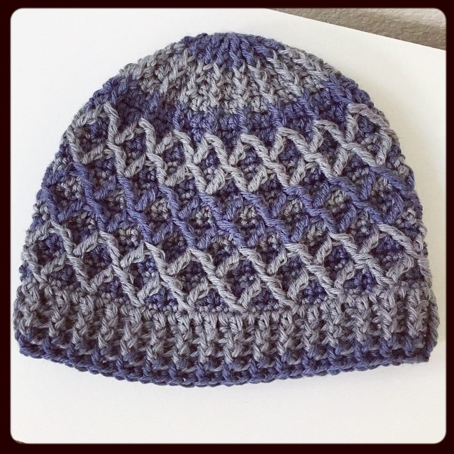 Custom order finished! Keep warm this winter with a fun diamond hat in your fav colors too! #customorder #keepwarm #crochet #diamondhat #handmade #california #shoplocal #shopetsy