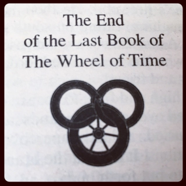 After 14 books and about 7 years, I'm finally done reading The Wheel of Time. It was an amazing series and I enjoyed it immensely. I can't believe how the ending went! .....but I have so many questions!!! :) #wot #wheeloftime #robertjordan #dragonmount
