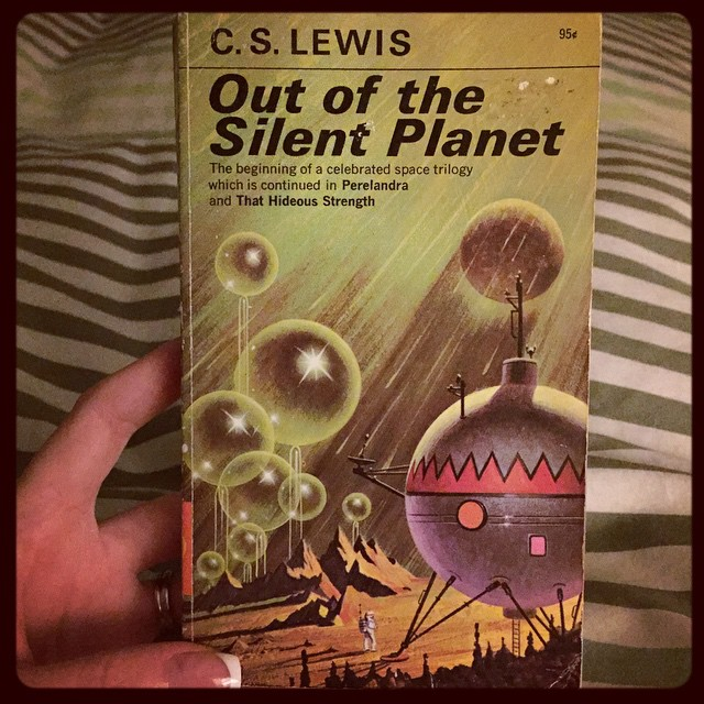 Now that I've finished all of Jordan, including New Spring, up next is this little series by another fav author of mine I've been wanting to read. #CSLewis #currentlyreading #fantasy #spacetrilogy