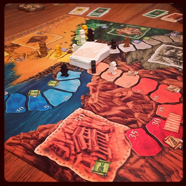 Lost Cities game night! #gamenight #boardgames #lostcities
