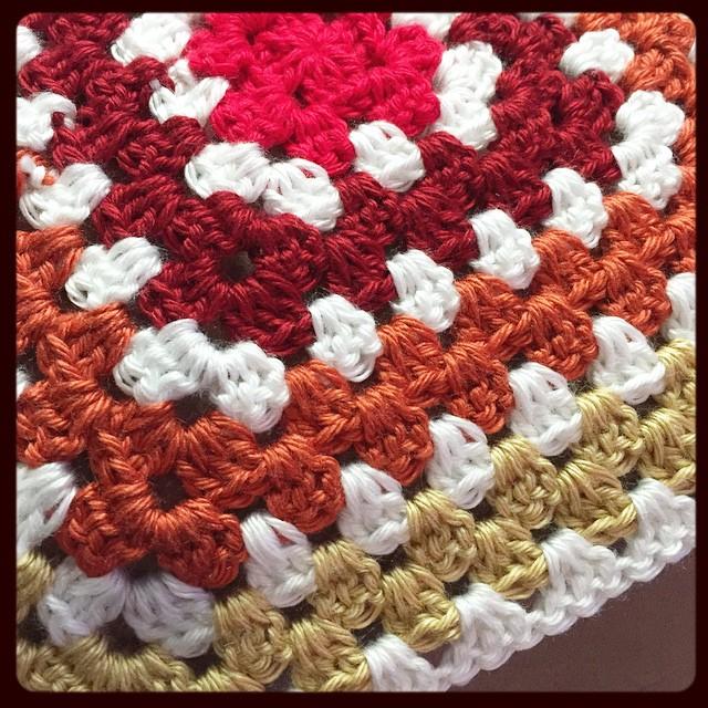 Commencing blanket project in 3, 2, 1 off I go! #crochet #grannysquare #blanket #newproject #yarndestash