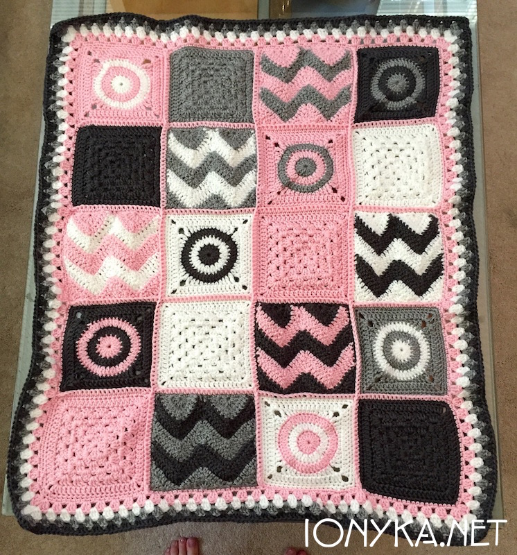 Threads by ionyka - Baby Squares Blanket1