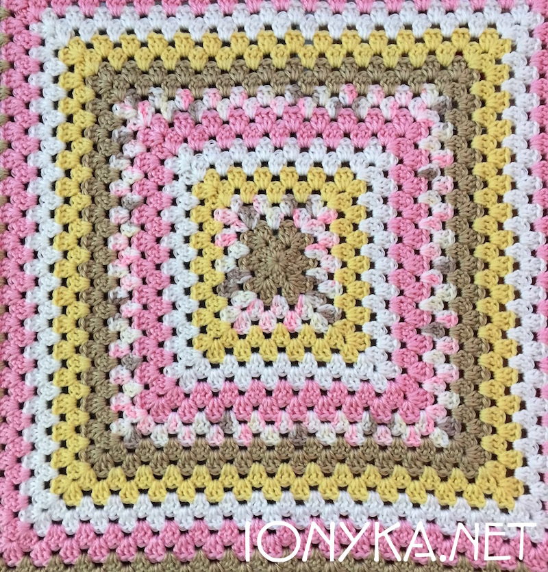 Threads by ionyka - Granny Square Gift Blanket2