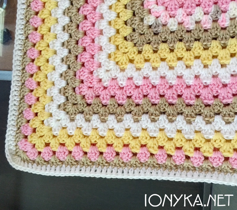 Threads by ionyka - Granny Square Gift Blanket4